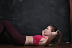 Young woman getting fit Royalty Free Stock Photo