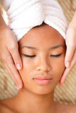 Young woman getting a massage Royalty Free Stock Photography
