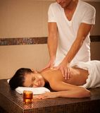 Young woman getting massage Royalty Free Stock Photography