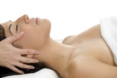 Young Woman Getting Massage Stock Photography