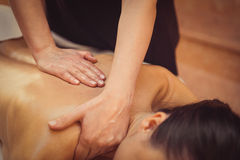 Young woman getting professional massage Royalty Free Stock Photos