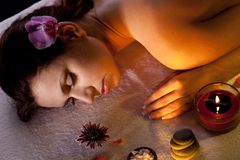 Young woman getting spa Royalty Free Stock Photos