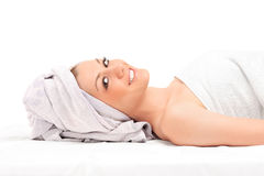 Young woman getting spa treatment Royalty Free Stock Image