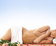 Young woman getting spa treatment Stock Image