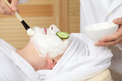 Young woman getting spa treatment Stock Photo
