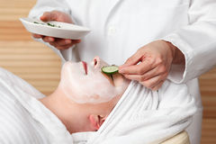 Young woman getting spa treatment Royalty Free Stock Photo