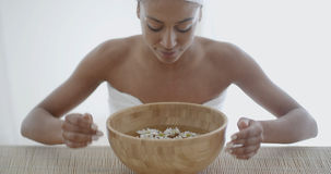 Young Woman Getting Spa Treatment Royalty Free Stock Images