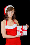 Young woman with gift Royalty Free Stock Photos