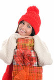 Young woman with gifts Stock Image