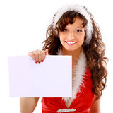 Young woman with gifts Stock Photo