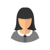 Young woman girl avatar. Isolated. Vector illustration Stock Photography