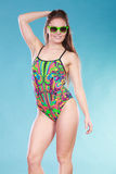 Young woman girl in swimsuit. Summer holiday. stock photography