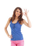 Young woman give you ok gesture Stock Image
