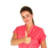 Young woman giving you thumbs up Stock Photos