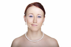 Young woman glamour portrait Royalty Free Stock Images