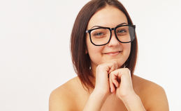 Young woman with glasess Stock Image
