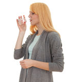 Young woman with glass of water Royalty Free Stock Photography