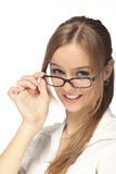 Young woman with glasses Stock Photo
