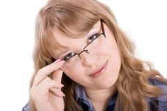 The young woman in glasses Royalty Free Stock Photo