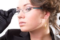 Young woman with glasses Royalty Free Stock Images
