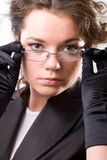 Young woman with glasses Stock Photography