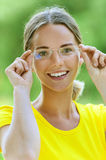 Young woman in glasses Stock Photo