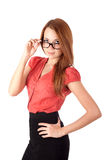 Young woman in glasses Stock Photos