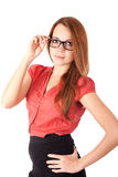 Young woman in glasses Royalty Free Stock Photo