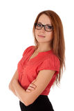 Young woman in glasses Royalty Free Stock Photos