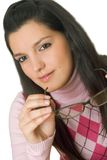 Young woman with glasses Royalty Free Stock Photography