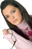 Young woman with glasses Stock Images