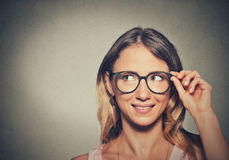 Young woman in glasses Stock Photography