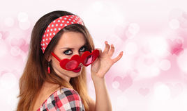 Young woman with glasses. Royalty Free Stock Photography