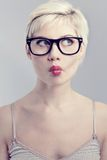 Young woman with glasses Royalty Free Stock Photos