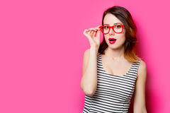 Young woman in glasses Stock Image