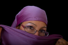 Young woman in glasses with a veil Royalty Free Stock Photo