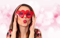 Young woman with glasses. Stock Photos