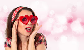 Young woman with glasses. Stock Images
