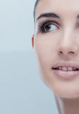 Young woman with glowing face skin Royalty Free Stock Photography