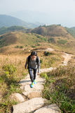 Young Woman go hiking Stock Photography