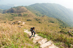 Young Woman go for hiking Royalty Free Stock Image