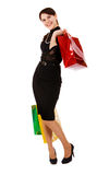Young woman goes shopping Royalty Free Stock Photo