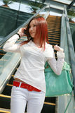 Young   woman going on shopping Stock Image