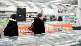 Young woman is going shopping stock footage