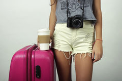 Young woman going on vacation. Stock Photography