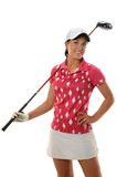 Young Woman With Golf Club Royalty Free Stock Image