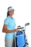 Young Woman Golfer Stock Photos