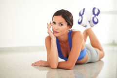 Young woman with good posture smiling Royalty Free Stock Photo