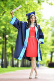 Young woman graduate Stock Image