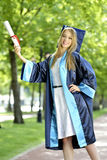 Young woman graduate Royalty Free Stock Photography